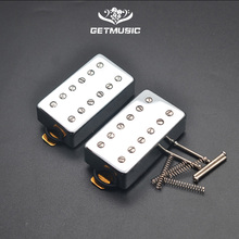Double Coil 12 Hole Humbucker Pickup for LP Electric Guitar Chrome