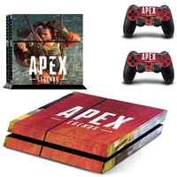 Pegatinas de leyendas Apex PS4 piel PS 4 pegatina de vinilo Estación de juego 4 calcomanías para consola PlayStation 4 y 2 controlador