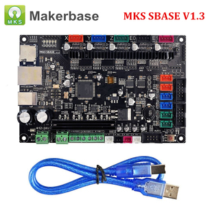 Image 2 - 3D Printer Parts Control Board MKS SBASE V1.3 32 bit Platform Open Source Smoothieboard with MKS TFT32 V4.0 Smart Touch Screen