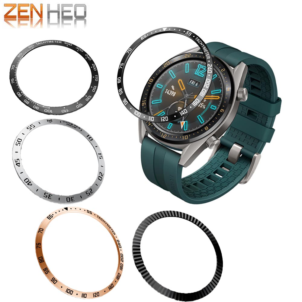 For Samsung Gear S3 Frontier Galaxy 46mm Bezel Ring Styling Frame Case Cover Protection For Huawei Watch GT /GT 2 46mm Watches