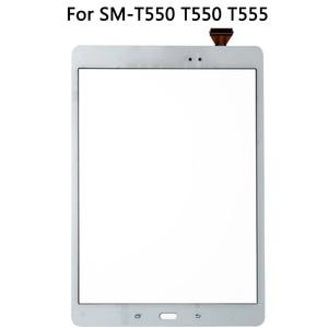 Image 3 - Oryginalny do Samsung Galaxy Tab E SM T550 T550 T555 wyświetlacz LCD czujnik ekranu dotykowego szklany digitizer Panel T550 Panel dotykowy LCD