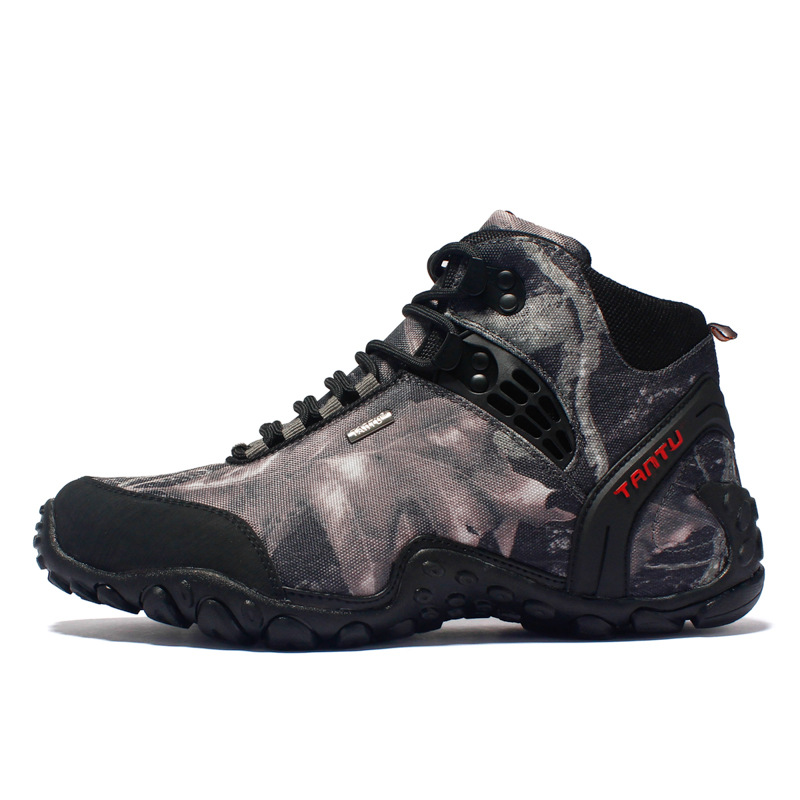 Large size camouflage shoes men's outdoor hiking shoes breathable mountaineering combat boots travel sneakers