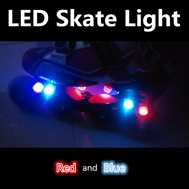 LED Flash Red Blue Roller Skates Light With Battery Inside Inline Skating Patines Night Cool Shine Lamp LED Bead Twinkle Warning