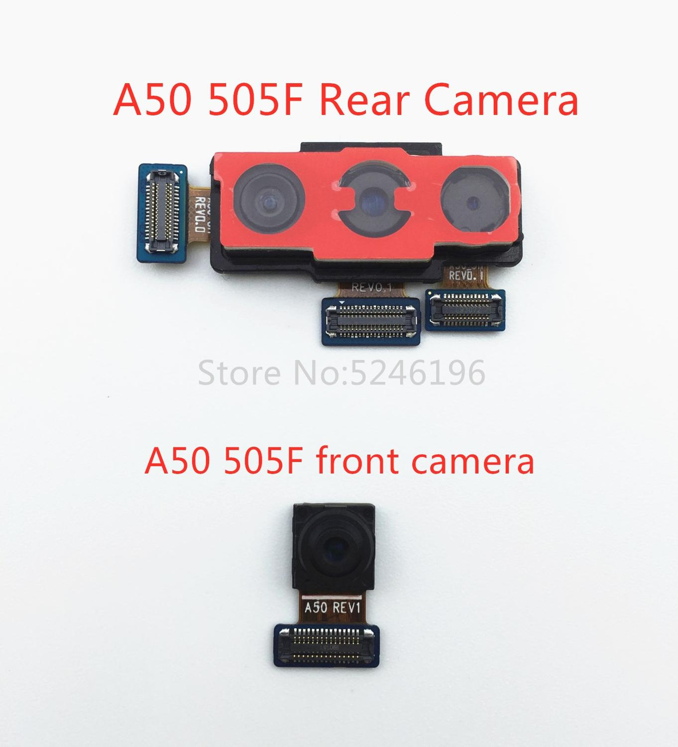 1pcs Back Big Main Rear Camera Front Camera Module Flex Cable For Samsung Galaxy A50 SM-505F Replace Part