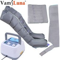 Air Compression Massager With 6 Air Cushion For Abdomen and Leg Massage And Blood Circulation Pump Wrap Set for Pressure Therapy