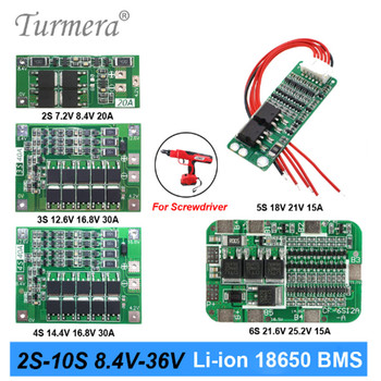 2S 3S 4S 5S 6S 10S Li-ion Lithium Battery 18650 Charger PCB BMS Protection Board For screwdriver battery Lipo Cell Module 2020 image