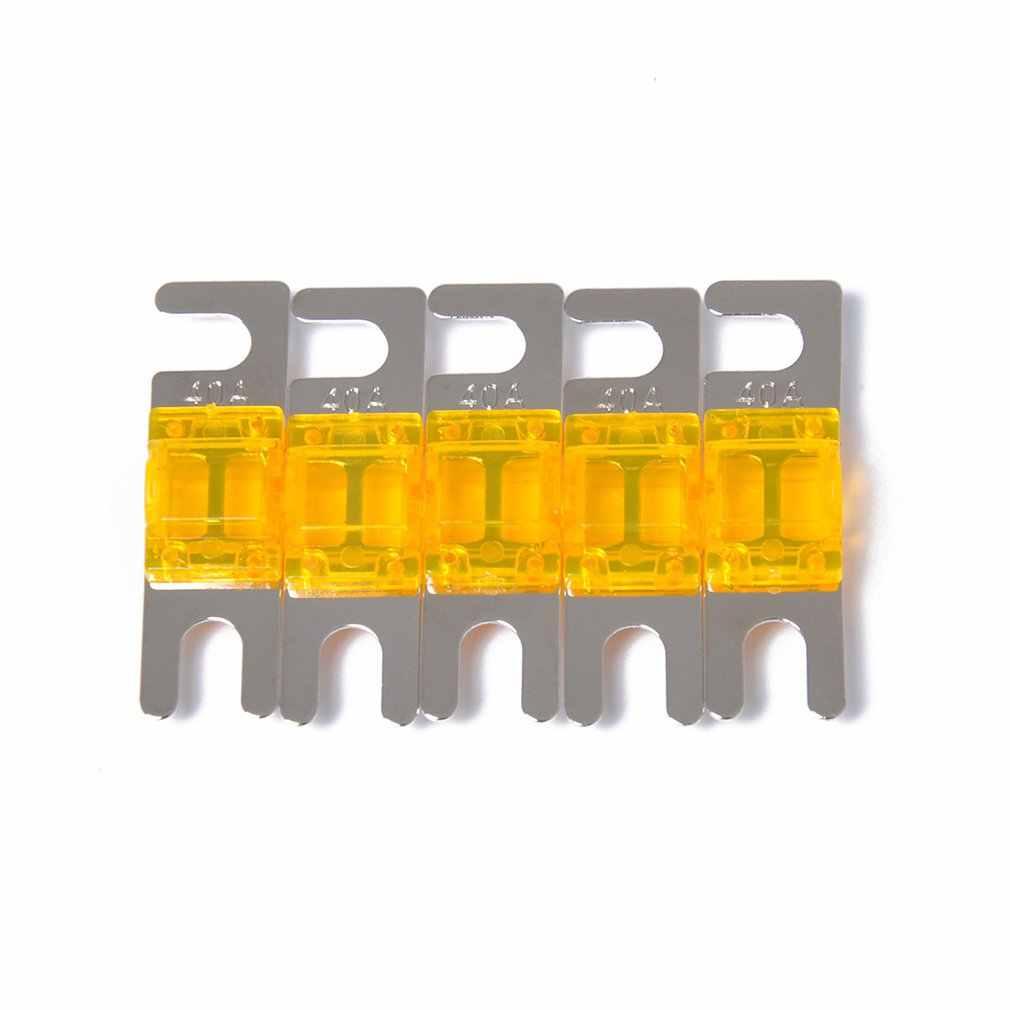 5 Pcs//set 30A//40A//60A//80A//100A Mini ANL Bolt Fork Fuse Kit Car Audio Circuit Breaker