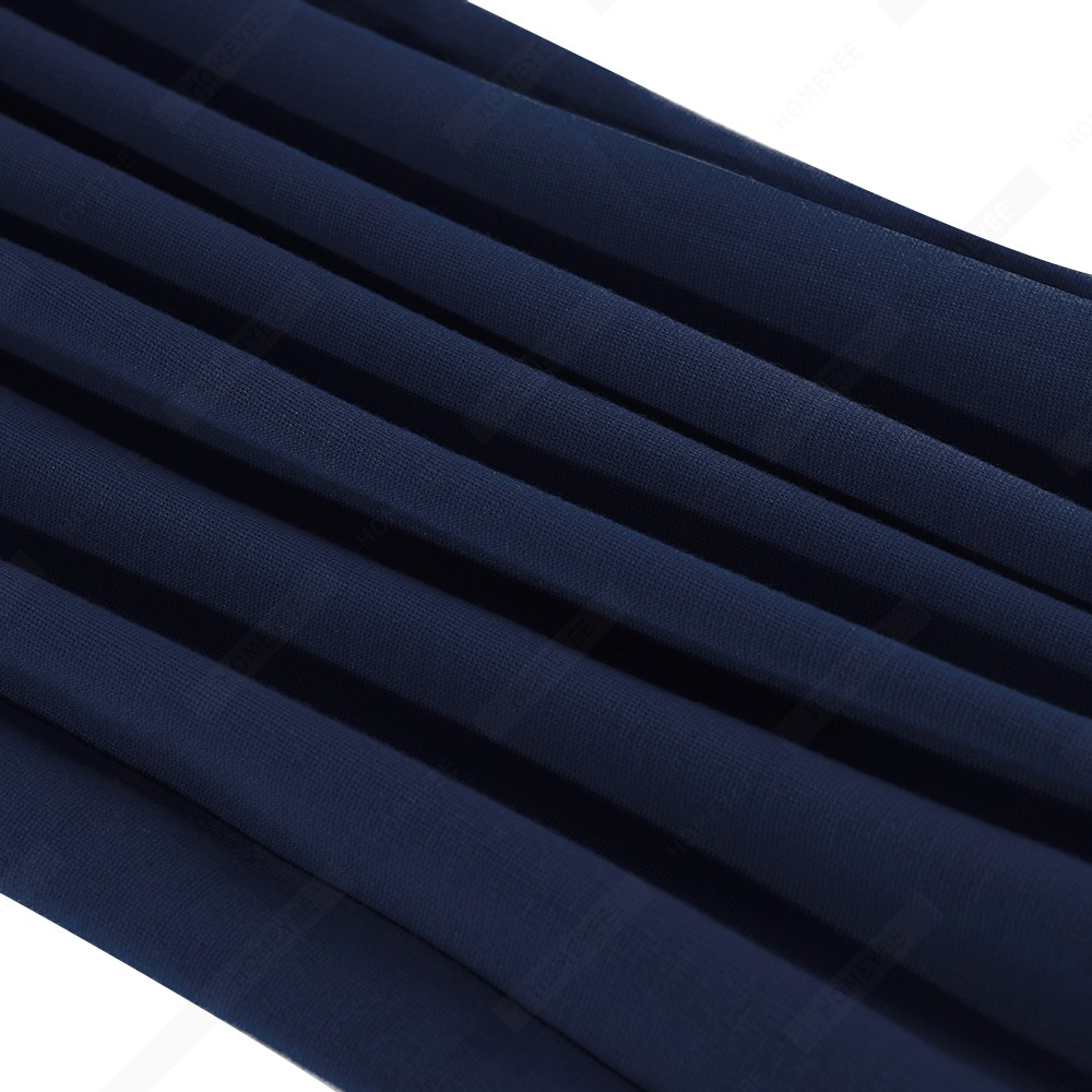 Women Brief Solid Color Classy Side Bow O Neck Fashion Slim Business Bodycon Pencil Dress EB622 6