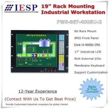 Rack Mount Industrial Panel PC, Core i3-4005U CPU, 4GB RAM, 500GB HDD, 5*COM, 6*USB, Rack mount industrial computer