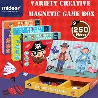 Mideer子供子供の磁気パズル交通変更顔赤ちゃんの早期教育知育玩具、さまざまなクリエイティブ磁気ゲーム