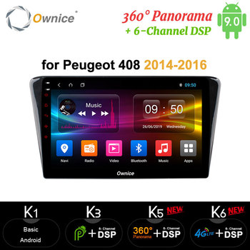 Ownice DSP carplay Android 9.0 Eight Core Car Radio GPS Navi Player Radio 4GB RAM 64GB ROM  for Peugeot 408 2014 2015 2016