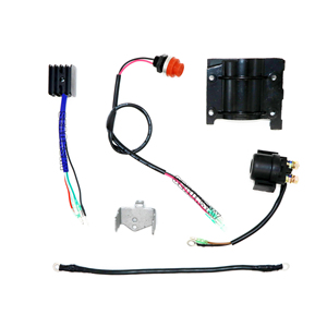 Image 5 - Outboard motor Rear Control Change to Electric Start Engine Kit for YAMAHA 2 stroke 15HP boat engine(New Style)