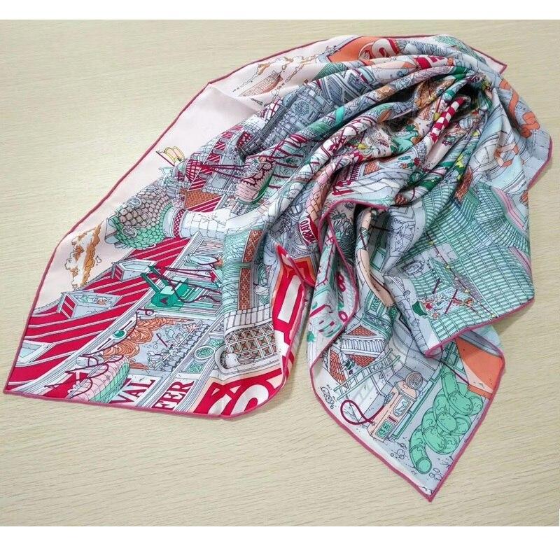 Women Fashion Head Scarves 100% Real Silk Scarf Shawl