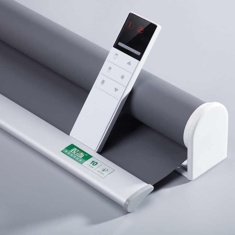 Sistema di Plug-in Aggiornata Motorizzato Tenda A Rullo Formato Su Misura per la Casa e L'ufficio Google Casa Alexa Compatibile via Broadlink