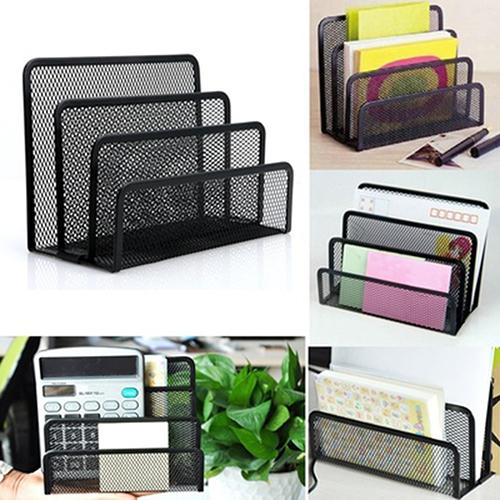 File Cabinets File Holder Black Desk Tray Organizer Office Desktop Supplies Heavy Large Reams Prevents Trays Holder Stops Outbox Metal Home Office Furniture Color : Black