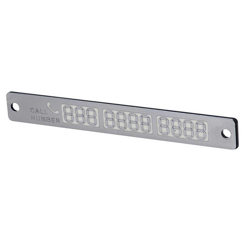 Etiqueta engomada de la tarjeta del número de teléfono del coche 15*2cm luminosas de noche tarjeta de aparcamiento temporal Placa de luz nocturna