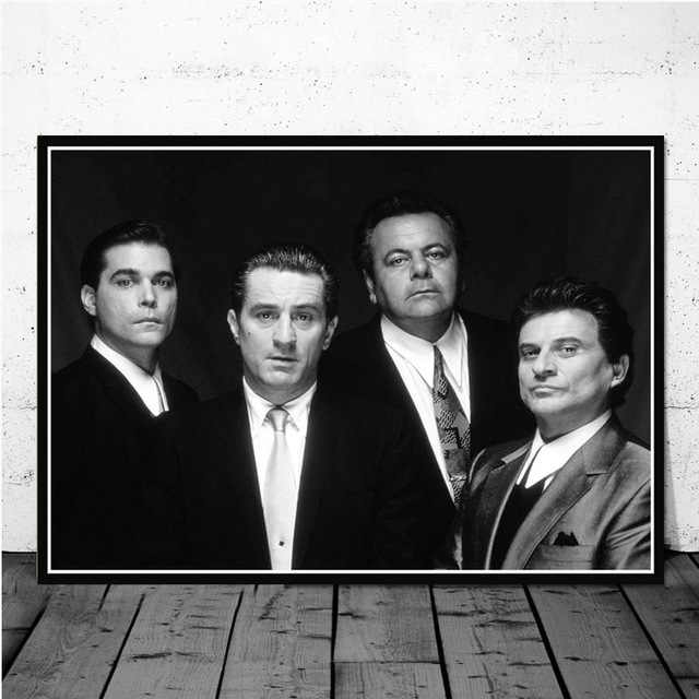 Godfather Goodfellas Scarface Sopranos Movie Art Poster Canvas Painting Wall Picture Home Decor Posters and Prints