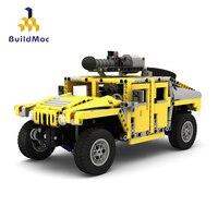 BulidMOC MOC 2988 Hummer H1Cargo car HummersToy Building Blocks Educational Kids Military Wars set Bricks Children Toys