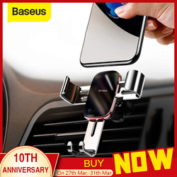 Baseus ユニバーサル自動車電話ホルダー iphone 11 プロサムスン華為車の空気ベントマウントホルダー金属重力携帯電話ホルダー