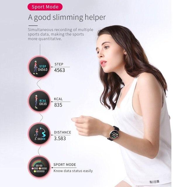 B36 femmes montre intelligente mode numérique femme période rappel cortège Calories étape étanche Sport montres 2020 offre spéciale