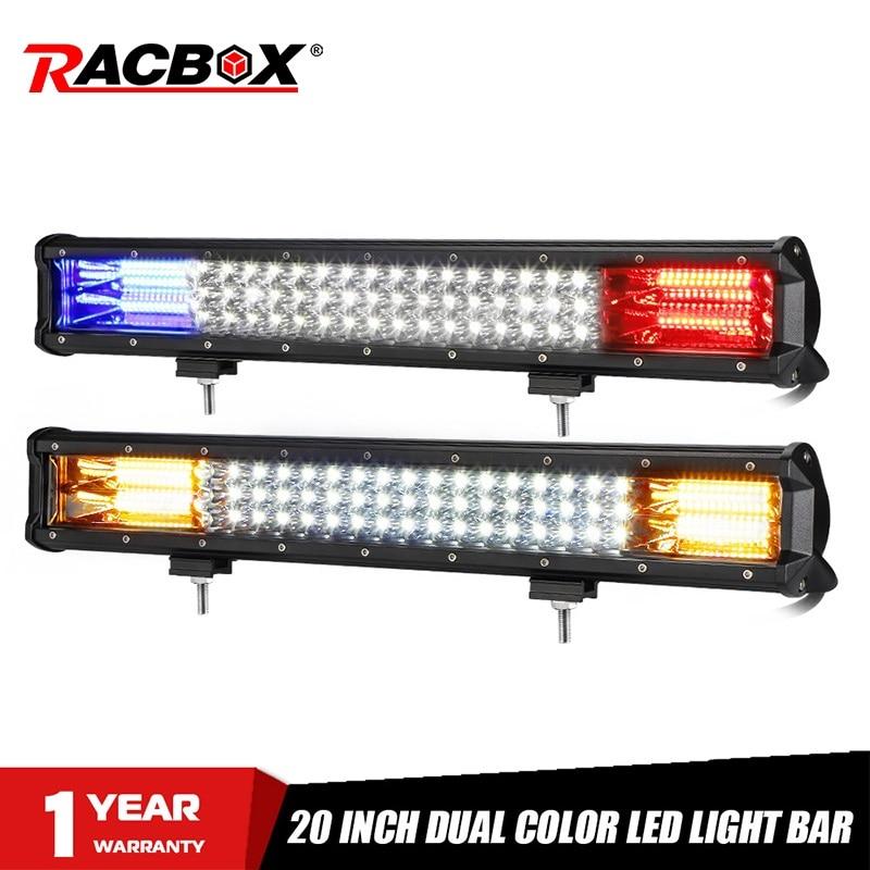 20inch 288W Tri-row Straight LED Light Bar Spotlights Work Lamp 12V 24V Combo Beam DRL For Offroad Niva 4x4 UAZ ATV SUV Jeep Car