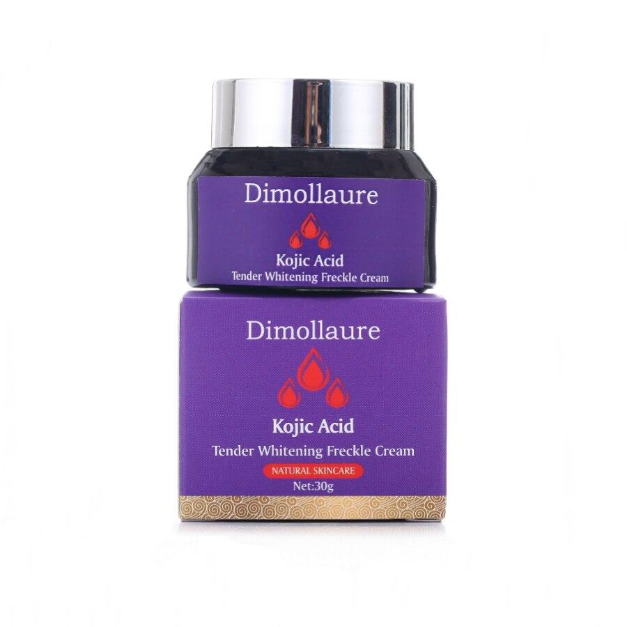 Dimollaure Kojic Acid Whitening Cream 30g Retinol Wrinkle Removal Freckle Melasma Acne Scar Pigment Age Spot Melanin Face Cream