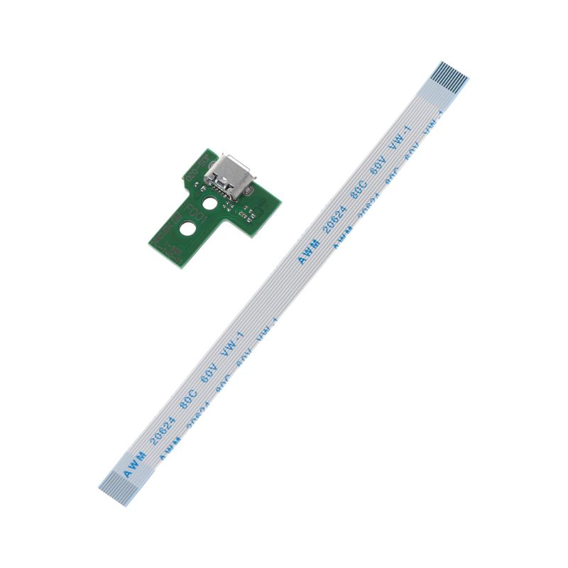 USB Charging Port Board With 12 Pin Flex Cable For JDS-030 PS4 Controller