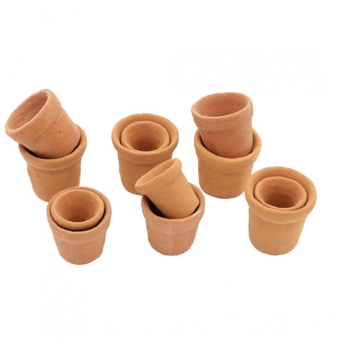 7pcs Doll Accessory Mini Terracotta Planter Clay Ceramic Pottery