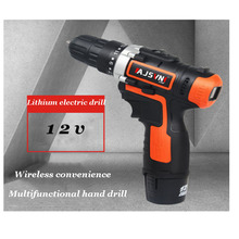 Anjieshun Electric Screwdriver Rechargeable Electric Drill Mini Wireless Power Driver DC Lithium Ion Battery 12/16.8/25V Maximum drill driver rechargeable sturm cd3212l