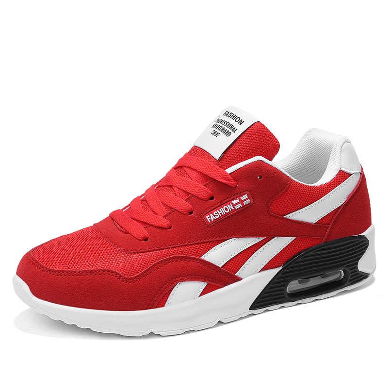 Toda a temporada moda masculina tênis de malha sapatos masculinos respirável leve rendas confortáveis sapatos casuais unisex tamanho grande 47