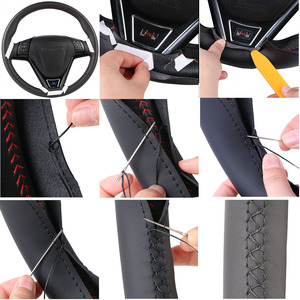 Image 5 - Artificial Leather car steering wheel braid for Honda Civic Old Civic 2006 2011/Custom made auto Steering wheel cover