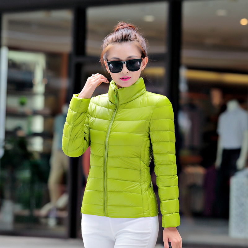 Ultra Light Down Jacket Women Thin Autumn And Winter Large Size Womens Coat Jackets For Women Campera Mujer KJ344