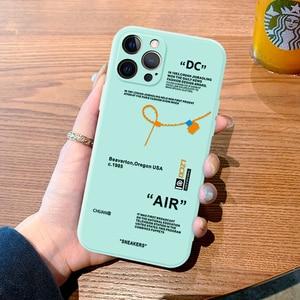 Image 5 - Esporte de luxo marca para o iphone 12 11 pro max mini 6s 7 8 mais x xr xs max se 2020 capa logotipo etiqueta bege macio silicone caso