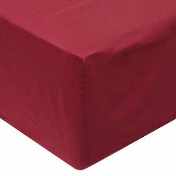 Vidaxl fitted sheet 2 PCs 180x200 cm cotton burgundy red