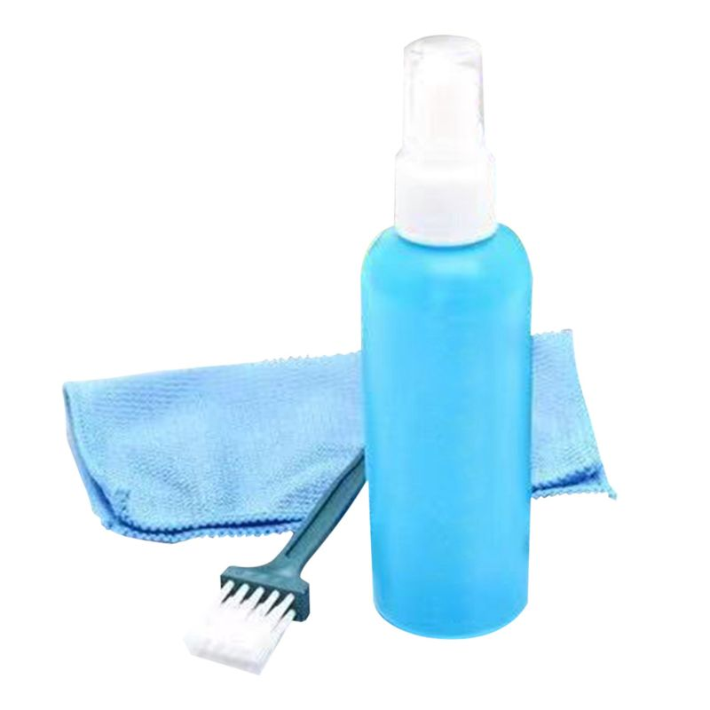 1Set Portable Tablet Screen Cleaning Kit Screen Cleaner with Clean Brush Cloth for LCD Computer Accessories