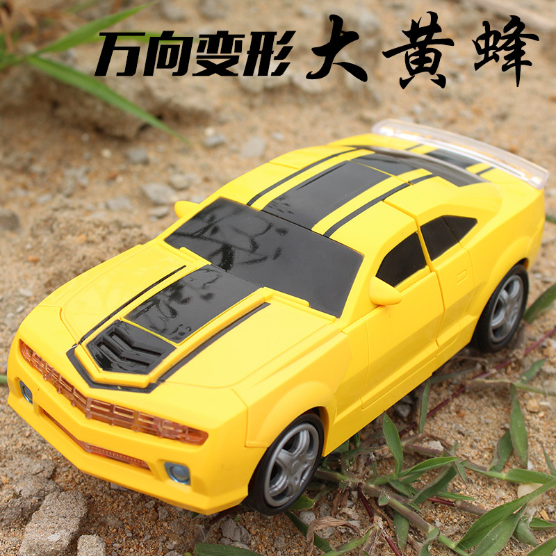 Deformation Robot Automatic Transformation 5 Children Toy Car Electric Universal Non-Remote-control Automobile Race Car