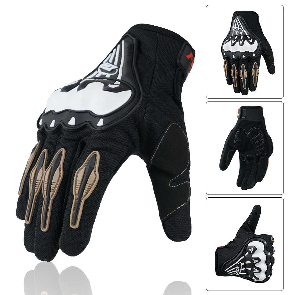 Motorcycle Gloves Racing Summer Full Finger Protective Motocross For Yamaha BMW