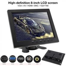 8 Inch  Monitor HD TFT-LCD Color Monitor Mini TV Computer 2 Channel Video Input Security Monitor Speaker VGA HDMI for Car eyoyo 10 ips lcd monitor mini computer display led screen 2 channel video input security monitor with speaker vga hdmi
