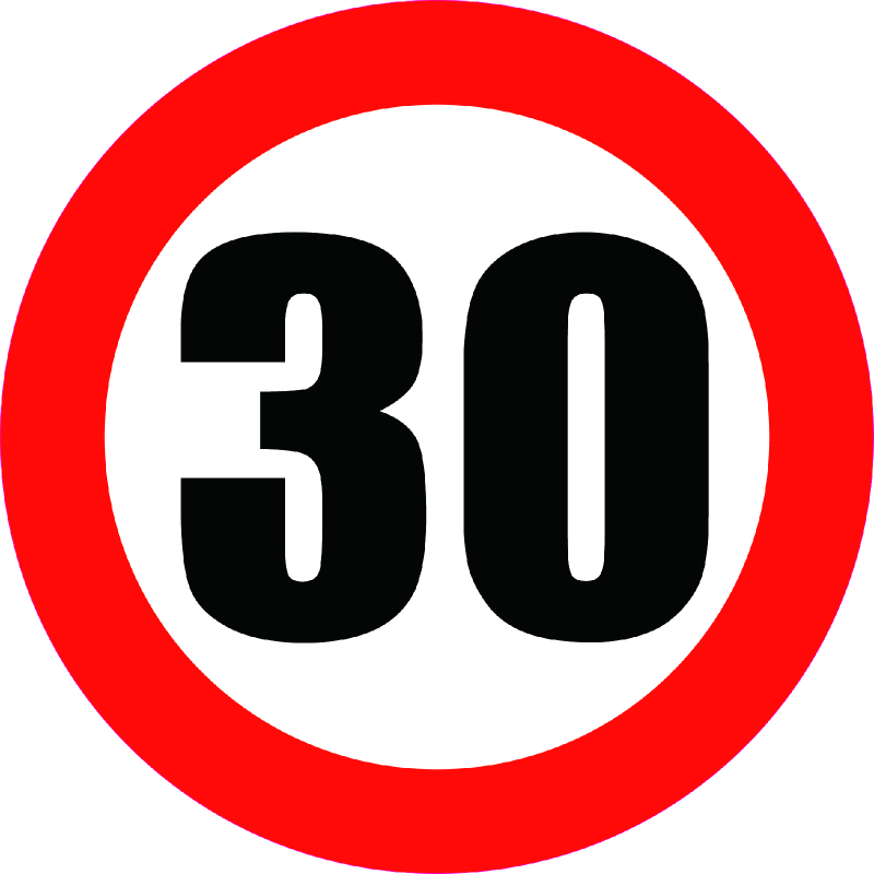 Aliauto Car Sticker Speed Limit Sign 30KM Decal Accessoriess 30cm
