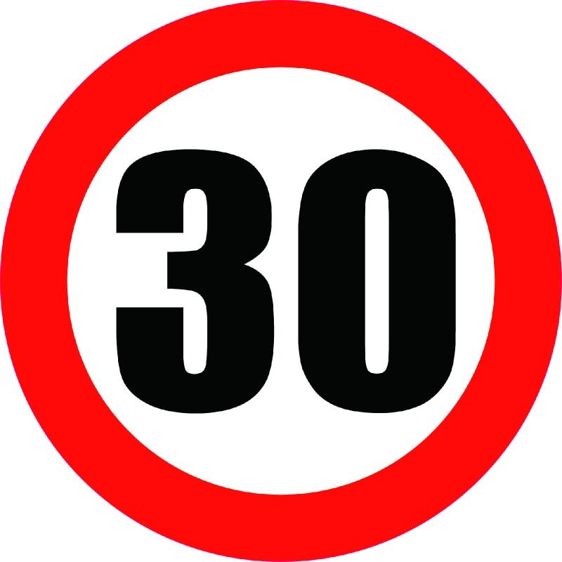 Aliauto Car Sticker Speed Limit Sign 30KM Decal Accessoriess 30cm