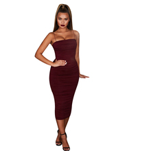 New Dresses Woman Party Night Ladies Sexy Halter Sleeveless O-nelck Women Clothes Club Dress Vestidos