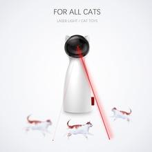 Carrywon kot Pet LED laserowy zabawny zabawki inteligentne automatyczne kot ćwiczenia treningowe zabawne zabawki wielu kąt regulowane USB ładowania