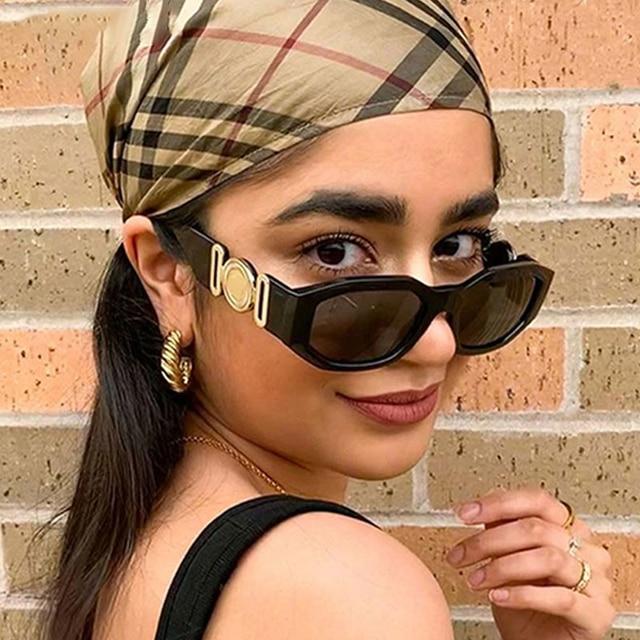 Vintage Steampunk Brand Design Luxury Small Frame Sunglasses Men Women Fashion Square Sun Glasses Shades UV400 Vintage Glasses 1