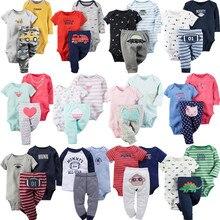Ensemble de dessin animé pour bébé garçon et fille, manches longues, col rond, body + pantalon, vêtements unisexes pour nouveau-né, en coton