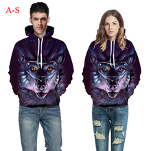 Europe and America 3d Digital Printed Long Sleeves Hoodies Pullover Baseball Uniform Animals Loose Couples Clothes 1 PC