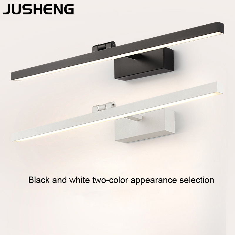JUSHENG LED Wall lamp Bathroom Light warm white white Washroom Wall Lamp Fixtures Acrylic 9W 40CM 12W 50CM Makeup over Mirror in LED Indoor Wall Lamps from Lights Lighting