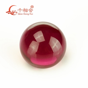 5# r u b y red color sphere shape/ ball shape red color corundum without hole(China)