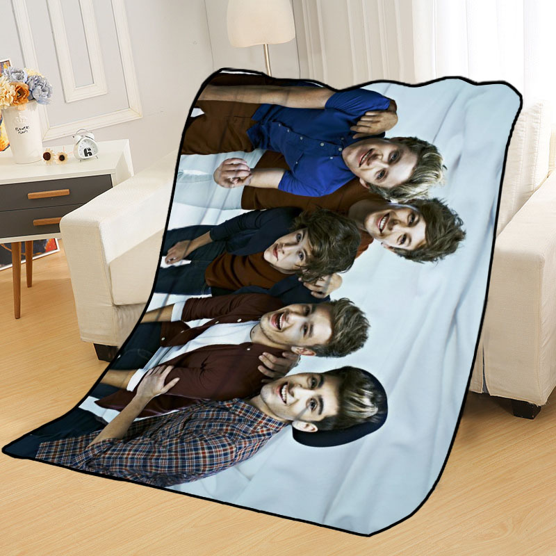 New Arrival One Direction Blankets Printing Soft Nap Blanket On Home/Sofa/Office Portable Travel Cover Blanket-2