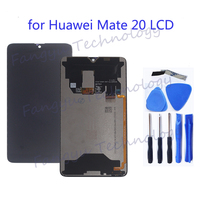 original display for Huawei Mate 20 LCD + touch digitizer replacement for huawei mate20 MT20 LCD mobile phone repair parts+tool