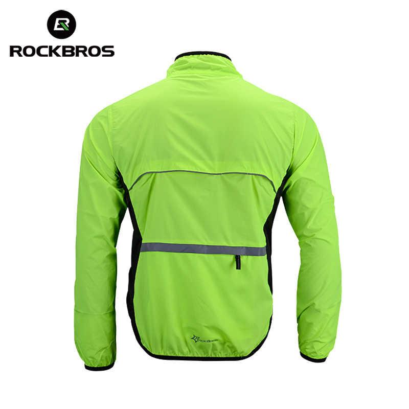 ROCKBROS Bersepeda Sepeda Jersey Man Jaket Tahan Angin Cepat Kering Bernapas Sepeda Mantel Hujan MTB Jersey Motorcross Bersepeda Pakaian Kemeja